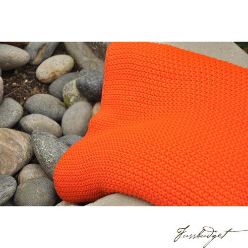 Cotton Throw Blanket - Varna Collection - Bright/Beach/Orange-Fussbudget.com
