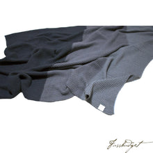 Load image into Gallery viewer, Cotton Throw Blanket - Zac Collection - Shades of Grey - 100% Cotton-Fussbudget.com