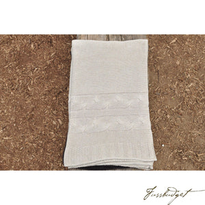 Cotton Throw Blanket - Classic Collection - Hazy Cream/ Beige-Fussbudget.com