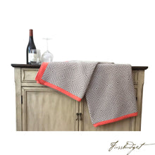 Load image into Gallery viewer, Cotton Throw Blanket - Piazza Collection - Crimson-Fussbudget.com