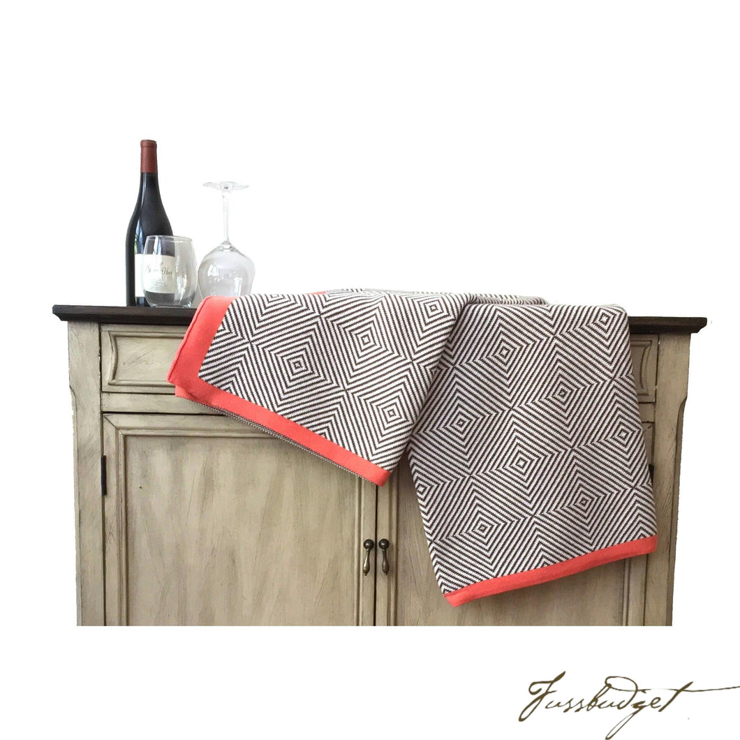 Cotton Throw Blanket - Piazza Collection - Crimson-Fussbudget.com