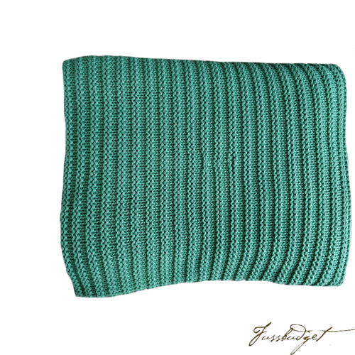 Cotton throw blanket - Suave Collection - Soft Green-Fussbudget.com