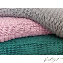 Load image into Gallery viewer, Cotton throw blanket - Suave Collection - Soft Pink-Fussbudget.com