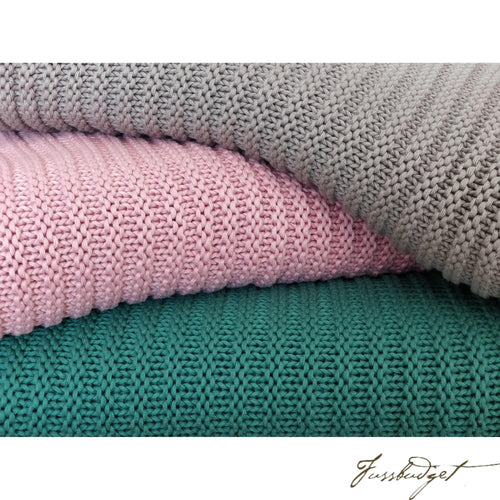 Cotton throw blanket - Suave Collection - Soft Pink-Fussbudget.com