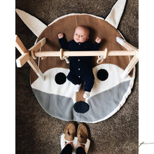 Load image into Gallery viewer, Baby Fox Mat - 100% Cotton Baby Play Mat-Fussbudget.com
