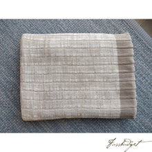 Load image into Gallery viewer, Cotton throw blanket - Aria Collection - Stone/Cream-Fussbudget.com