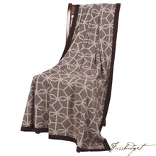 Load image into Gallery viewer, Cotton Throw Blanket - Daza Collection - Hexagon Mix - Chocolate brown - 100% Cotton-Fussbudget.com