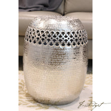 Load image into Gallery viewer, Metal Hand beaten pouf - Vara Collection-Fussbudget.com