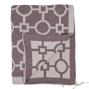 Cotton Throw Blanket - Nizcaya Collection - Spring Dust - 100% Cotton-Fussbudget.com