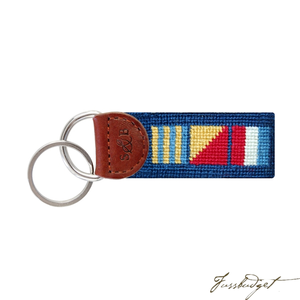 Got Rum Needlepoint Key Fob-Fussbudget.com