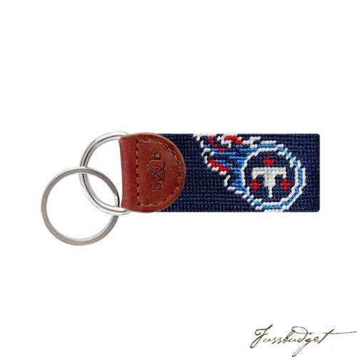 Tennessee Titans Needlepoint Key Fob-Fussbudget.com