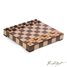 Load image into Gallery viewer, Matted Inlay Chess and Checkers Set with Storage Drawer.-Fussbudget.com