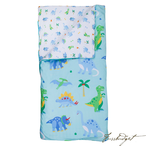 Dinosaur Land Microfiber Sleeping Bag w/ Pillowcase-Fussbudget.com