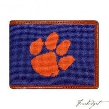 Load image into Gallery viewer, Clemson University Needlepoint Wallet