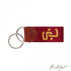 University of Southern California Needlepoint Key Fob-Fussbudget.com