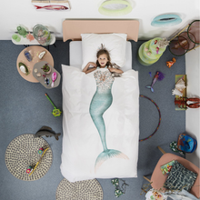 Load image into Gallery viewer, Mermaid Duvet Cover Set - Free Shipping-Fussbudget.com