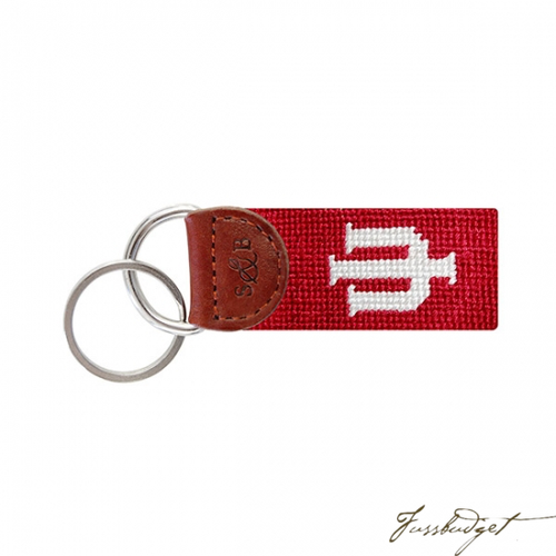 Indiana University Needlepoint Key Fob-Fussbudget.com