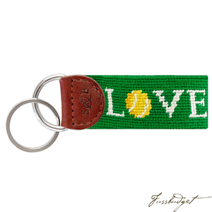 Love All Needlepoint Key Fob-Fussbudget.com