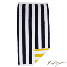 Load image into Gallery viewer, Monogrammed Reversible Stripe Beach Towels