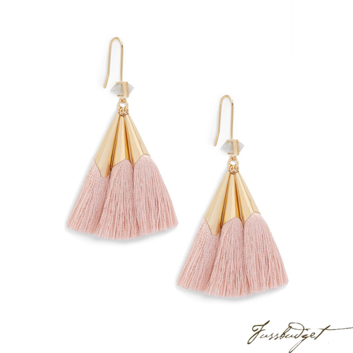 SONIA TASSEL EARRINGS | LIGHT PINK