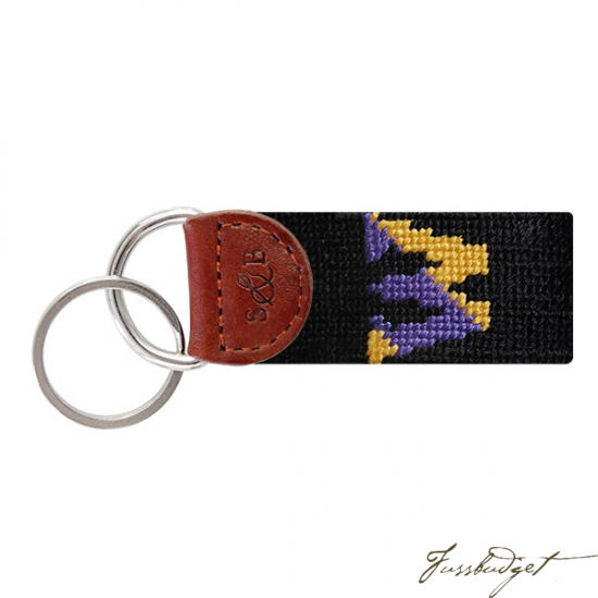 Williams College Needlepoint Key Fob-Fussbudget.com