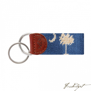 South Carolina Flag Needlepoint Key Fob-Fussbudget.com