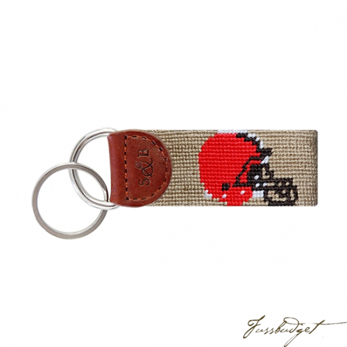 Cleveland Browns Needlepoint Key Fob-Fussbudget.com