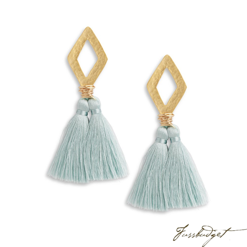 OLIVIA EARRINGS | LIGHT SAGE