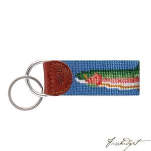 Big Trout Needlepoint Key Fob-Fussbudget.com