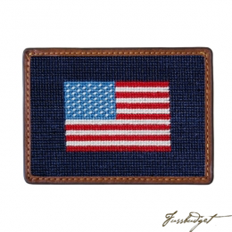 Needlepoint Bi-Fold Wallet