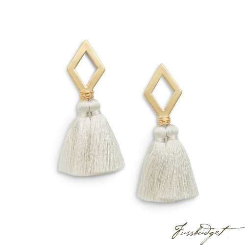 OLIVIA EARRINGS | LIGHT GRAY