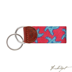 Starfish Needlepoint Key Fob-Fussbudget.com