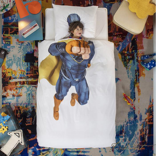 SUPERHERO BLUE DUVET COVER SET