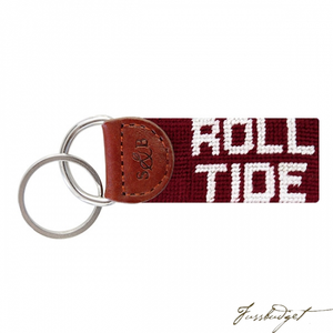 Alabama Roll Tide Needlepoint Key Fob-Fussbudget.com