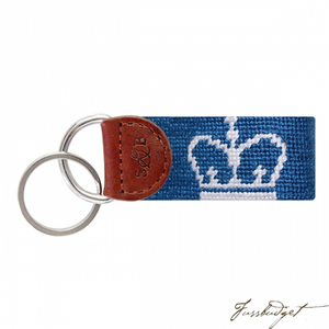 Columbia University Needlepoint Key Fob-Fussbudget.com