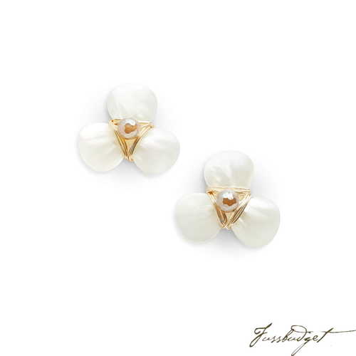 CHRISTIE EARRINGS | CHAMPAGNE AGATE-Fussbudget.com