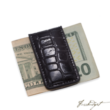 Load image into Gallery viewer, Leather Magnetic Money Clip.-Fussbudget.com