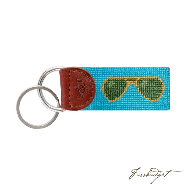 Sunglasses Needlepoint Key Fob-Fussbudget.com