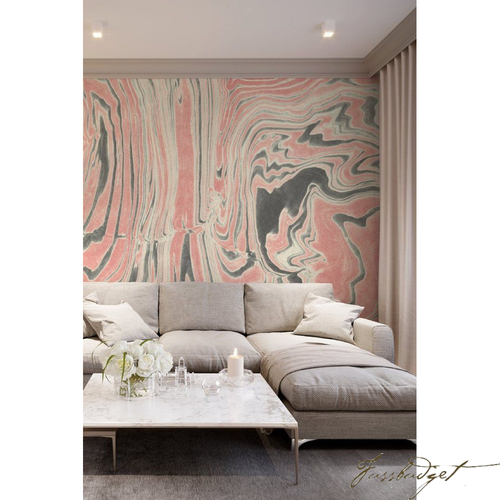 Rose Ring Marble Wallpaper or Mural-Fussbudget.com