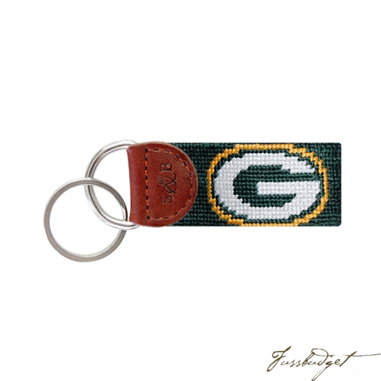 Green Bay Packers Needlepoint Key Fob-Fussbudget.com