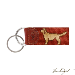 Retriever Needlepoint Key Fob-Fussbudget.com