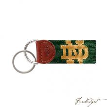 Load image into Gallery viewer, Notre Dame (Hunter) Needlepoint Key Fob-Fussbudget.com