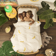 Load image into Gallery viewer, Banana Monkey Duvet Cover Set - Free Shipping-Fussbudget.com