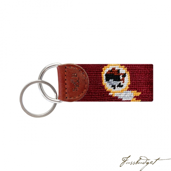 Washington Redskins Needlepoint Key Fob-Fussbudget.com