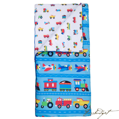 Themed Microfiber Sleeping Bags with Pillowcases-Fussbudget.com