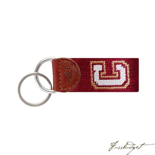 College of Charleston Needlepoint Key Fob-Fussbudget.com