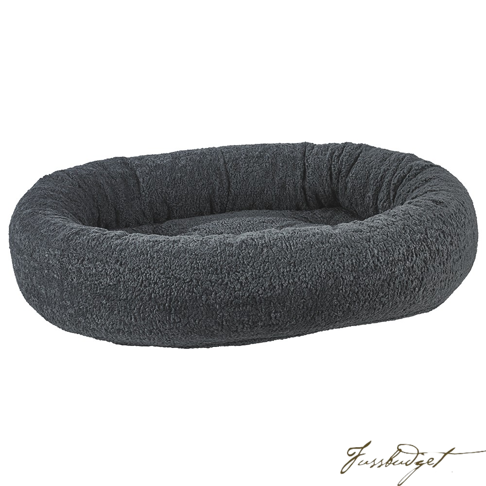 Grey Sheepskin Donut Bed-Fussbudget.com