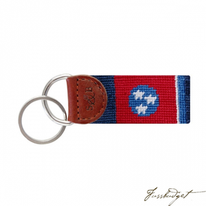 Tennessee Flag Needlepoint Key Fob-Fussbudget.com
