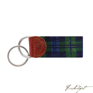 Black Watch Needlepoint Key Fob-Fussbudget.com