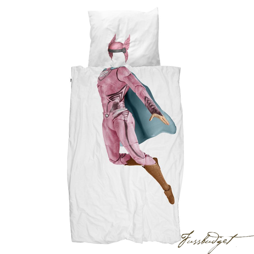 SUPERHERO PINK DUVET COVER SET